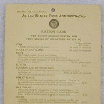 Image of Ration Card - United States Food Administration