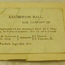 Image of Dewey Invitation to Exhibition Ball -