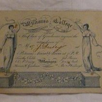 Image of Dewey Invitation to 1811 Williams College Commencement Ball -