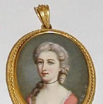 Image of Painting, Miniature - Mrs. Bailey Bartlett (Peggy White)