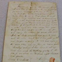 Image of Clawson Slave Deed - Viele, John L.