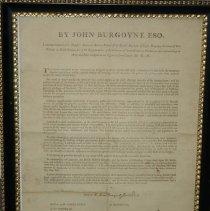 Image of John Burgoyne Statement Offering Protection to Loyal Subjects - Burgoyne, John