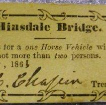 Image of Hinsdale Bridge Pass  - Chapin, C.