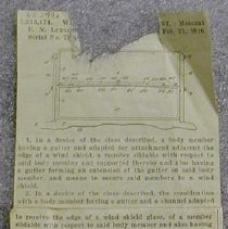Image of Windshield Patent Clipping -