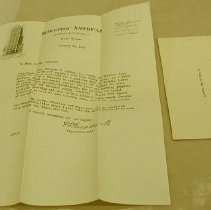 Image of Treadwell Letter - Treadwell, Louis S.