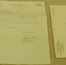 Image of Fisher Letter - Fisher, Lewis H.