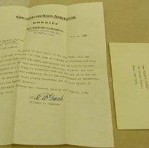 Image of Graeb Letter - Graeb, E. W.