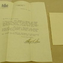 Image of Burns Letter - Burns, Cornelius F.