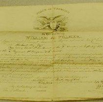 Image of Abraham B. Way Commission                               - Vermont. Militia