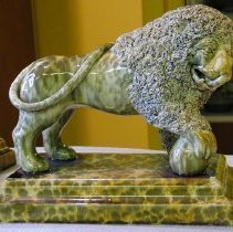 Image of Figurine - Flint enamel lion