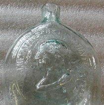 Image of Flask - Light green flask, Dyottville Glass Works, Philadelphia
