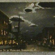 Image of Griswold of Bennington Postcard-Main St. by Moonlight - Griswold of Bennington.