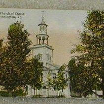 Image of Griswold of Bennington Postcard-Old First Church - Griswold of Bennington