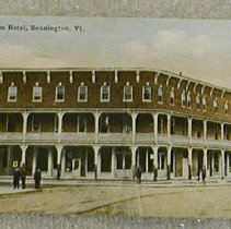 Image of Griswold of Bennington Postcard-Putnam Hotel - Griswold of Bennington.