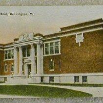 Image of Griswold of Bennington Postcard--High School - Griswold of Bennington.
