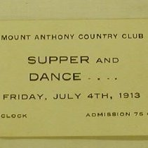 Image of Mt. Anthony Country Club Ticket - Mt. Anthony Country Club (Bennington, Vt.)