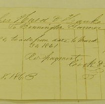Image of Bennington Banner Advertising Bill 1863 - Bennington Banner