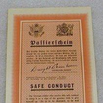 Image of WWII Safe Conduct Pass -