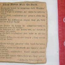 Image of They Never Will Go Back Newspaper Clipping -