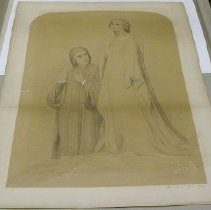 Image of Drawing - Dante and Beatrice