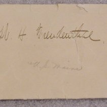 Image of WH Frendenthal Envelope -