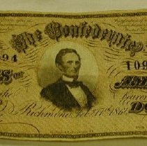 Image of Confederate Banknote - Confederate States of America