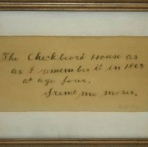 Image of Note - Grandma Moses Letter re. Checkered House
