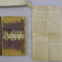 Image of Cleghorn Clipping From Autography Album -