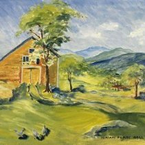 Image of Painting - View From Combination Farm, Rutland