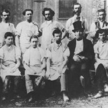 Image of Print, photographic - Edward Norton and Group of Old Bennington Pottery Workers
