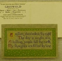 Image of Griswold Envelope and Postcard -