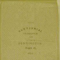 Image of Battle of Bennington Centennial Napkin -