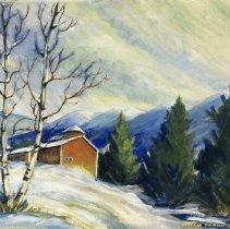 Image of Painting - Winter Scene, Vermont