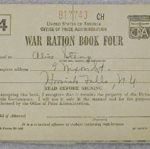 Image of War Ration Book Four - United States. Office of Price Administration