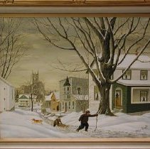 Image of Painting - Winter's Fun