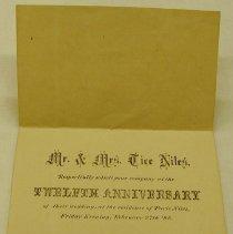 Image of Invitation to Niles Anniversary -