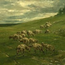 Image of Painting - Hillside with Sheep