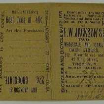 Image of Jackson, F. W. - Advertising Card -