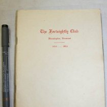 Image of Fortnightly Club yearbook  - Fortnightly Club (Bennington, Vt.)