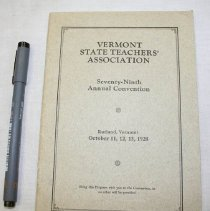Image of Vermont State Teachers' Association Program - Vermont State Teachers' Association