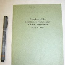 Image of Directory of the Bennington High School Alumni Association - Bennington High School (Bennington, Vt.)