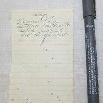 Image of Bertha Lambert Note - Burt, Bertha Paisley Lambert