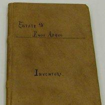 Image of Enos Adams Inventory Book -