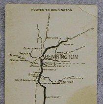 Image of Pageant Week 1911 Map - Bennington (Vt.)