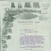 Image of Readsboro Chair Co. School Furniture Catalog - Readsboro Chair Manufacturing Company