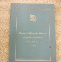 Image of DAR 1952 Program Hoosac-Wallomsac Chapter - Daughters of the American Revolution