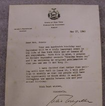 Image of Rockefeller Letter to Moses - Rockefeller, Nelson A.