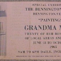 Image of Bennington Museum 1965 Exhibit - Bennington Museum