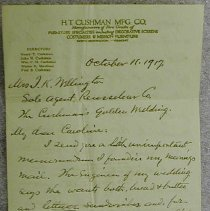Image of Henry Cushman Letter - Cushman, Henry Theodore