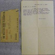 Image of Helen Gould Telgram to Mrs. H. T. Cushman - Gould, Helen